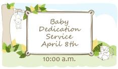 Baby Dedication Service April 2018