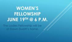 Women's Fellowship June 2018