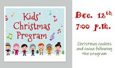 Children's Christmas Program 2018