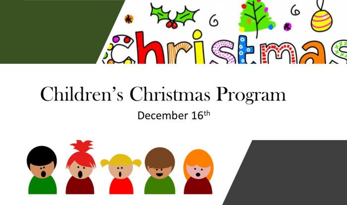 Children's Christmas Program 2020